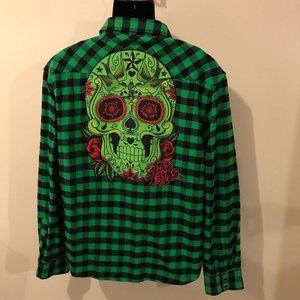 Men's Iron Fist Flannel Buffalo Check Shirt